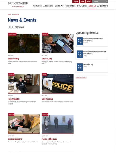 news and events screenshot