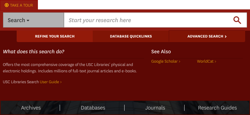 Library search screenshot
