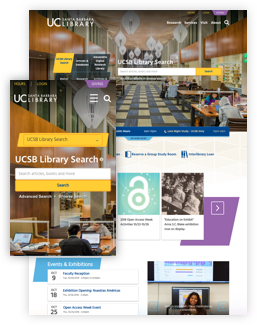 UCSB library new homepage design