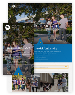 AJU redesigned homepage