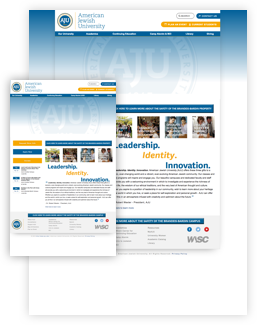 AJU old website