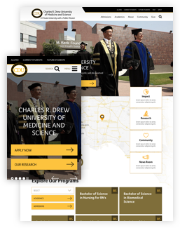 Charles R. Drew University after screenshot
