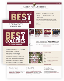 FSU new look of the homepage