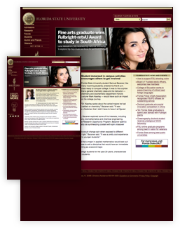 FSU previous look of the homepage