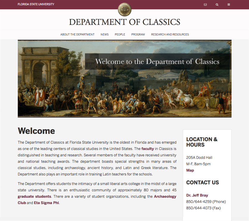 Department of classics screenshot