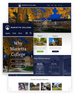 Marietta College new homepage design