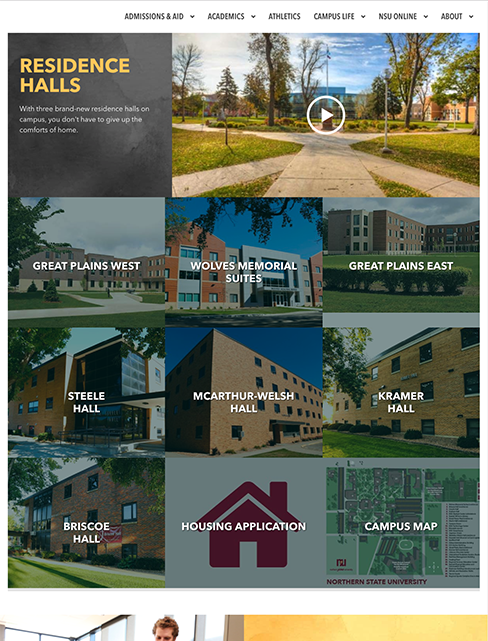 Residence halls screenshot