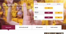 ASU alumni donation options