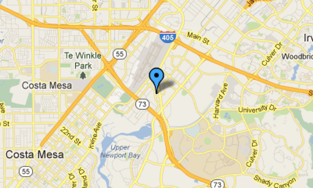 google map of newport beach