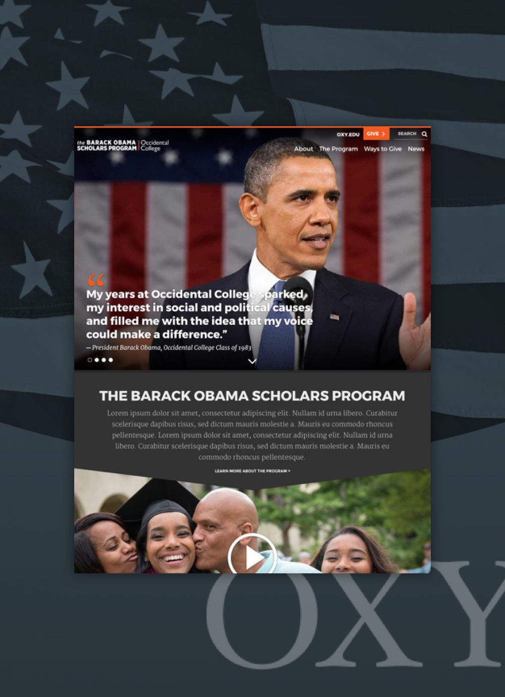 Obama Scholarship Project collage